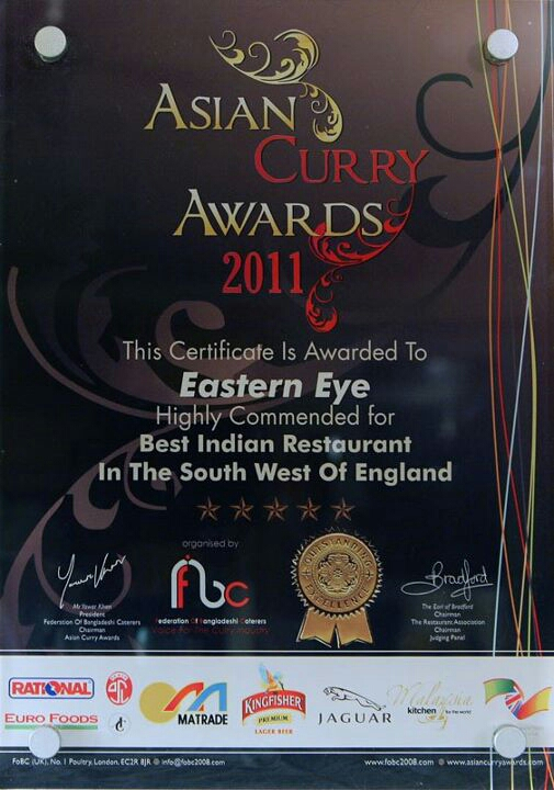 Eastern Eye Bath Curry Award 2011